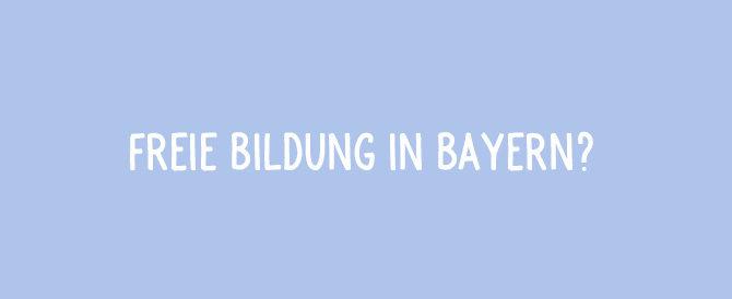Wahlprüfsteine zur Landtagswahl in Bayern